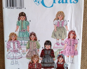 "Simplicity Crafts 18"" Doll Dress Sewing Pattern #9856 Prairie Sun"