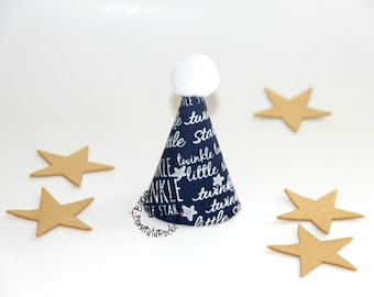 Twinkle Twinkle Little Star Party Hat // Mini Party Hat // Ready to Ship // by Born TuTu Rock