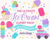 INSTANT DOWNLOAD - ice cream clip art and icecream maker for personal and commercial use