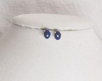 Lapis Studs - Lapis Lazuli Earrings - Natural Lapis Lazuli Stud Earrings