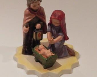 Goebel Nativity Holy Family Jesus Mary Joseph Creche Bisque Figurine Germany