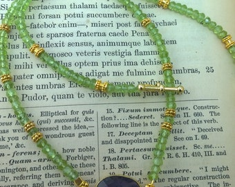 Exquisite Faceted Peridot and Amethyst Necklace