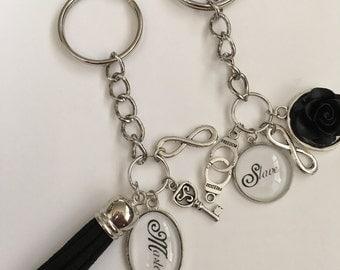 BDSM Master/ slave Keychain Pair
