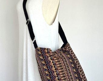Woven Messenger Bag Tribal Bag Bohemian Handbags Diaper Bag Purse Cotton Bag Hippie Bag Boho Hobo Bag Shoulder Bag Hmong Bag EB01
