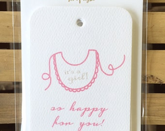 GT902- baby girl gift tag - set of 8
