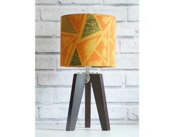 Geometric Triangle Hand-Screen Printed Lampshade