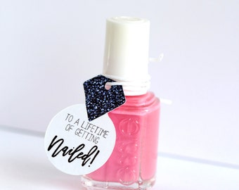 Nail Polish Favor Tags Mani Thanks Bachelorette Party Shower