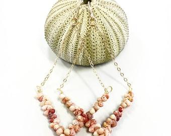 Kahehlelani (Ni'ihau) shell chandelier earrings in 14k gold fill