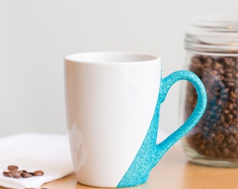 Glitter Mug - Glitter Coffee Mug - Glitter Coffee Cup - Gift for Mom - Stocking Stuffer - Coffee Lover - Bridesmaid Gift
