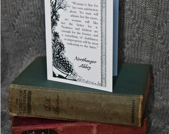 Northanger Abbey, Jane Austen, A6 Greetings Card