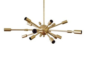 Atomic 18 Arm Sputnik Starburst Ceiling Light