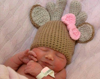 Crochet Baby Deer Hat
