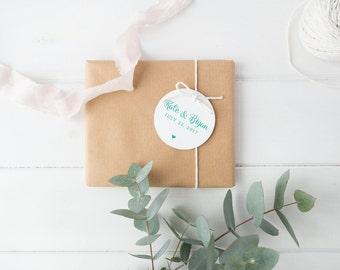 50 x Custom Wedding Favor Tags, Wedding Bomboniere Tags, Swing Tags, Wedding Gift Tags