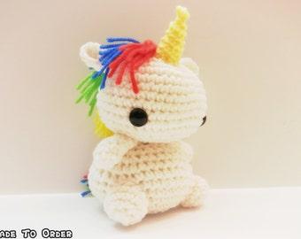 Crochet Chibi Unicorn - Customizable!
