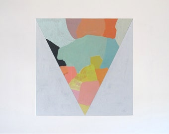 Jess Locke Original Acrylic Painting - Geometric, Abstract, Modern Art