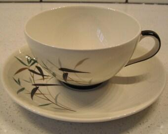 Vintage Royal Doulton Tea cup & saucer - 1960s - Bamboo - England - Mid-century