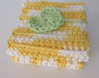 Crochet Sunshine Wash Cloths (Set of 2)