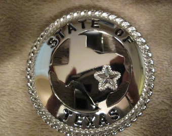 CUSTOM ORDER handcrafted personalized Texas key chain featuring cut out Texas in gold or silver