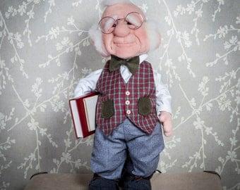 Needle felted gnome figure - George