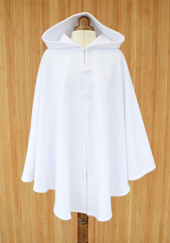 White Hooded Cape Hooded Cloak White Cape Coat Wedding