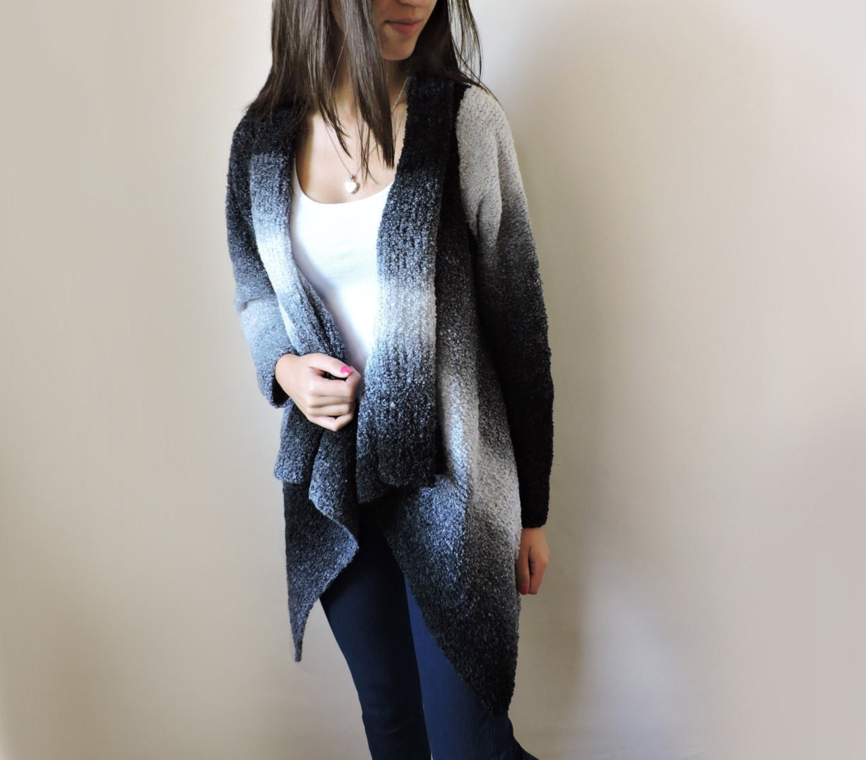Plus size sweater Hand knit cardigan Womens sweaters Knit