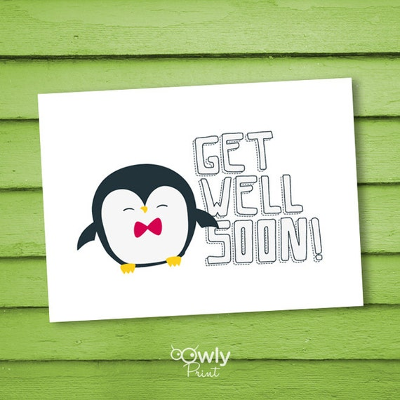 Wild image throughout get well soon card printable