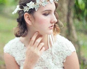 Bridal Hairpiece, Wedding Headpiece, Bridal Headpiece, Wedding Headband - NORRIS Whimsical Leafs Bridal Headband
