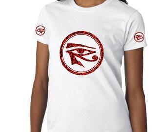 African Clothing for Women|Eye of Ra Shirt| Kemetic Shirt| Eye of Heru Shirt| Eye of Horus Tshirt|Protection Eye| African Shirt|