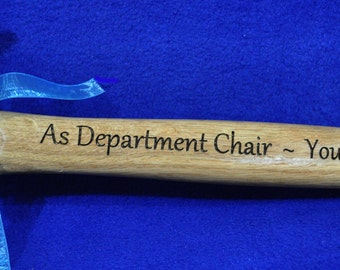 Gift For Office Worker ~ Recognition Award ~ Engraved Hammer ~ Recognition Gift ~ Office Worker Gifts ~ Promotion Gift ~ Employee Gifts ~