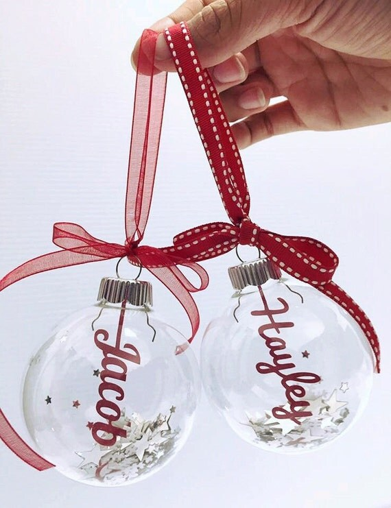 Personalized Christmas Bauble Decoration Filled With By