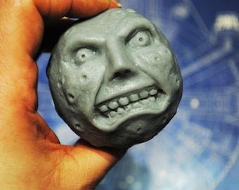 Handmade Large 3D Parody Majora's Mask Moon Soap-Zelda soap