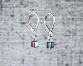Tiny Black Pixel Earrings...