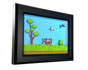 Duck Hunt (NES) Shadow Box
