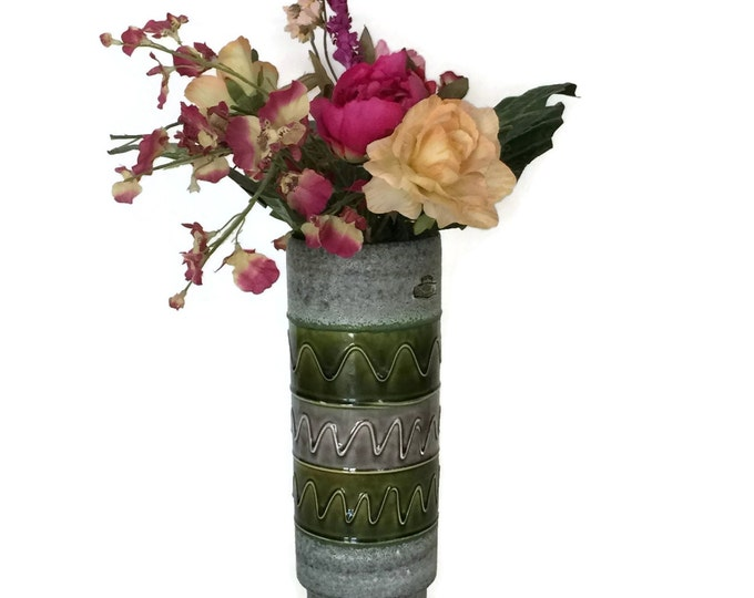 Mid Century Bay Keramik Fat Lava Vase