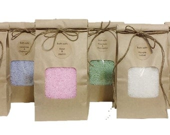 Aromatherapy BATH SALTS, Natural, Relaxing, Soothing, Calming, Anti-Stress, with Essential Oils, 400g/14oz, 200g/7oz, 100g/3.5oz