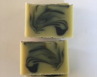 Cedar Sage and Blackberry Scented Soap, Green Clay Soap Bar, Homemade Soap, Artisan Soap, Activated Charcoal Soap, Shea Butter Soap