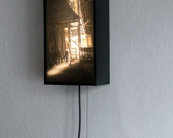 Lightbox – LostPlace, Industrial Building, Abandoned – 35 x 19 x 10 cm