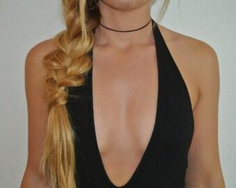 Thin Leather Choker | Choker Necklace | Genuine Leather Choker | Black Choker | Brown Choker | Adjustable Choker | The Sandy Vine