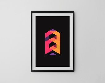 Pencil 23 - Typographic A3 Poster Print