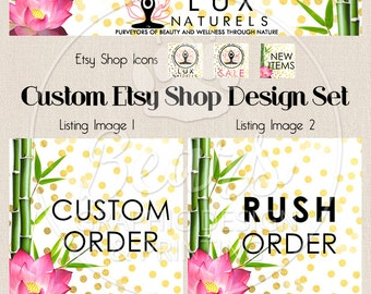 Etsy Shop Set, Cover Photo, Etsy Shop Design, Custom Cover Banner Set, Etsy Banner Sets, Retro Banner Set, Victorian Banner, Shop Banner