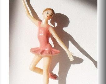 Vintage Wilton Pink Ballerina Cake Topper