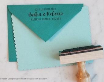 Custom Return Address Stamp 145, Self-Inking Address Stamp, Personalized Address Stamp, Wedding RSVP Stamp, Mail Stamp Gift for Her