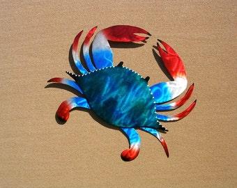 Crab Art, Crab Metal Art, Three Sizes, Outdoor Metal Wall Art, Metal Wall Art, Large Metal Wall Art, Outdoor Metal Art, Outdoor Artwork