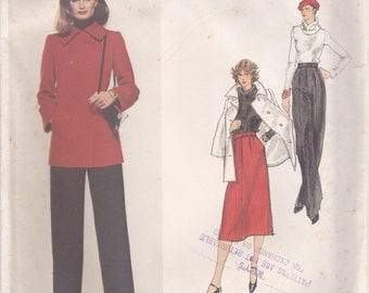 Givenchy Coat, Skirt & Pants Pattern Vogue Paris Original 1517 Size 10 Uncut