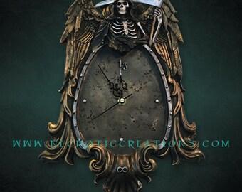 Grim Reaper Wall Hanging Clock