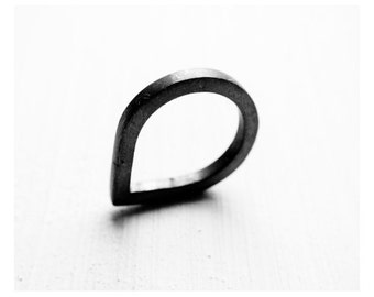 larme - silver ring / oxidized / promise rings / promise ring set / couple jewelry /couples rings /couples jewelry // anniversary rings