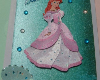 Disney Ariel,birthday card,under the sea,handmade