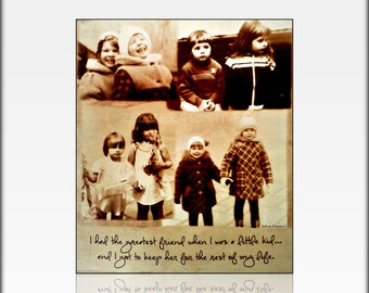 Unique Photo Gift Made With Your Own Pictures / This Quote Makes The Perfect Gift For Sister / Made By Using Your Own Photographs And Quote