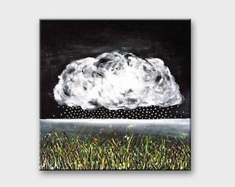 Acrylic painting Modern art Black and white canvas art Painting on canvas wall decor Wall art canvas Original art