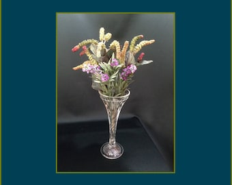 Crystal Vase - Fluted Spiral - Vintage 1960s - #227